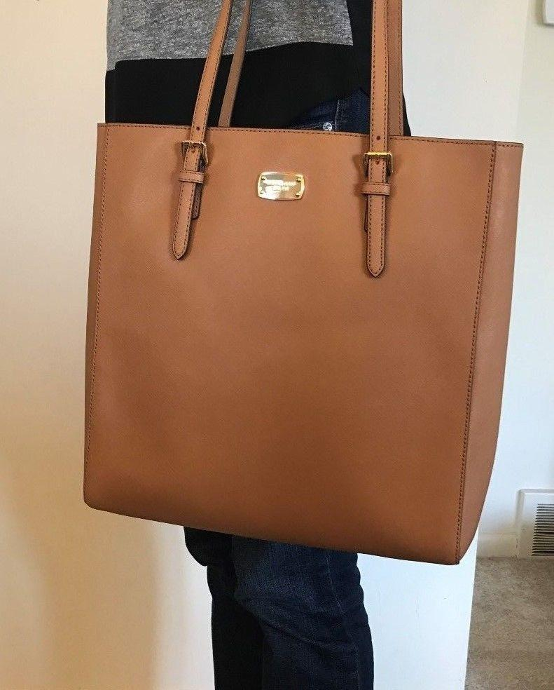 1df9ec6723d4 ... ireland michael kors jet set travel large ns brown acorn gold leather  tote tradesy a59a1 3c024 ...