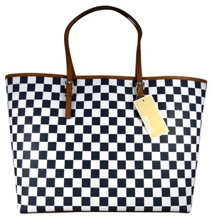 Michael Kors Jet Set Travel Medium Navy Tote in Multi-Color