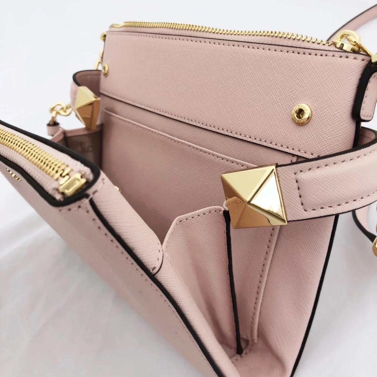 07fc9f0fc515 ... coupon for michael kors karla large pink leather cross body bag tradesy  07e41 6393f