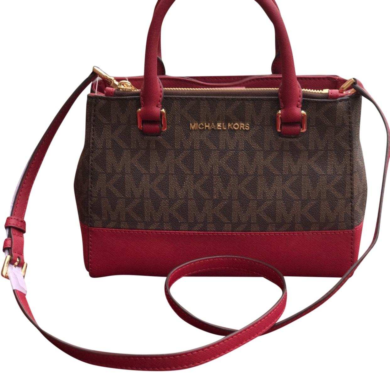 e290ced93688 ... bag 80cb9 533a3 top quality michael kors satchel in brown and cherry  85b63 3ce9b ...