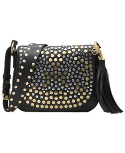Michael Kors Leather Studded Brooklyn New With Cross Body Bag