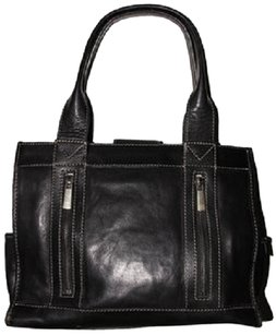 Michael Kors Leather Travel Work Organizer Compatments Space Totes Tote Black Travel Bag