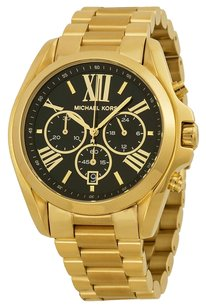 Michael Kors Michael Kors Black Dial Gold Tone Ladies Watch