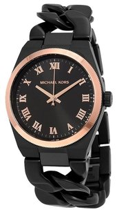 Michael Kors MICHAEL KORS Channing Black Dial Ion-plated Twist Ladies Watch MK3415