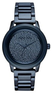 Michael Kors MICHAEL KORS KINLEY BLUE CRYSTAL STEEL WOMEN'S WATCH