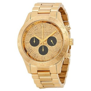 Michael Kors Michael Kors Layton Glitz Gold-tone Crystal Dial Ladies Watch