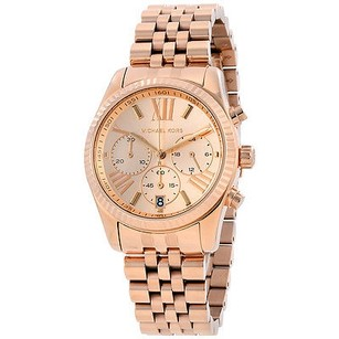 Michael Kors Michael Kors Lexington Chronograph Rose Dial Rose Gold Pvd Ladies Watch