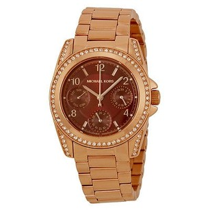 Michael Kors Michael Kors Mini Blair Multi-function Red Dial Rose Gold-plated Ladies Watch
