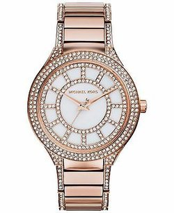Michael Kors Michael Kors Mk3313 Kerry Crystal Rose Gold Tone Stainless Steel Womens 38mm