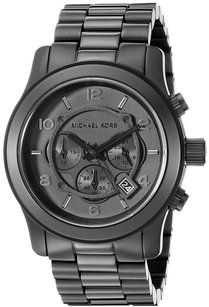 Michael Kors Michael Kors MK8157 'Runway' Chronograph Black Stainless Watch