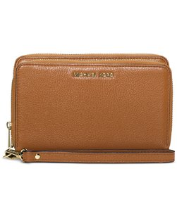 Michael Kors Michael Kors SAdele Double-Zip Wallet leather Acorn