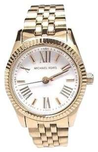 Michael Kors Michael Kors Mk3229 Womens Lexington Gold-tone Stainless Steel Doesnt Work