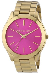 Michael Kors Michael Kors Women's Slim Runway Gold-Tone Stainless Steel Watch
