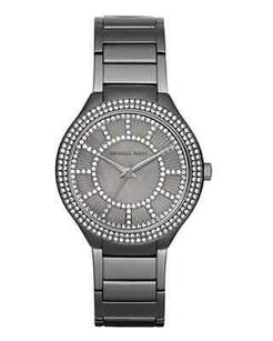 Michael Kors Michael Kors Womens Kerry Gunmetal Stainless Steel Bracelet Watch Mk3410