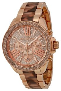 Michael Kors MICHAEL KORS Wren Pave Dial Rose Gold-tone and -shell Ladies Watch