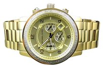 Michael Kors Micheal Kors Gold Mm Stainless Steel Watch With Custom Set Diamonds 1.5 C