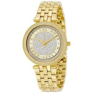 Michael Kors Mini Darci Gold Crystal Pave Dial Ladies Watch MK3445