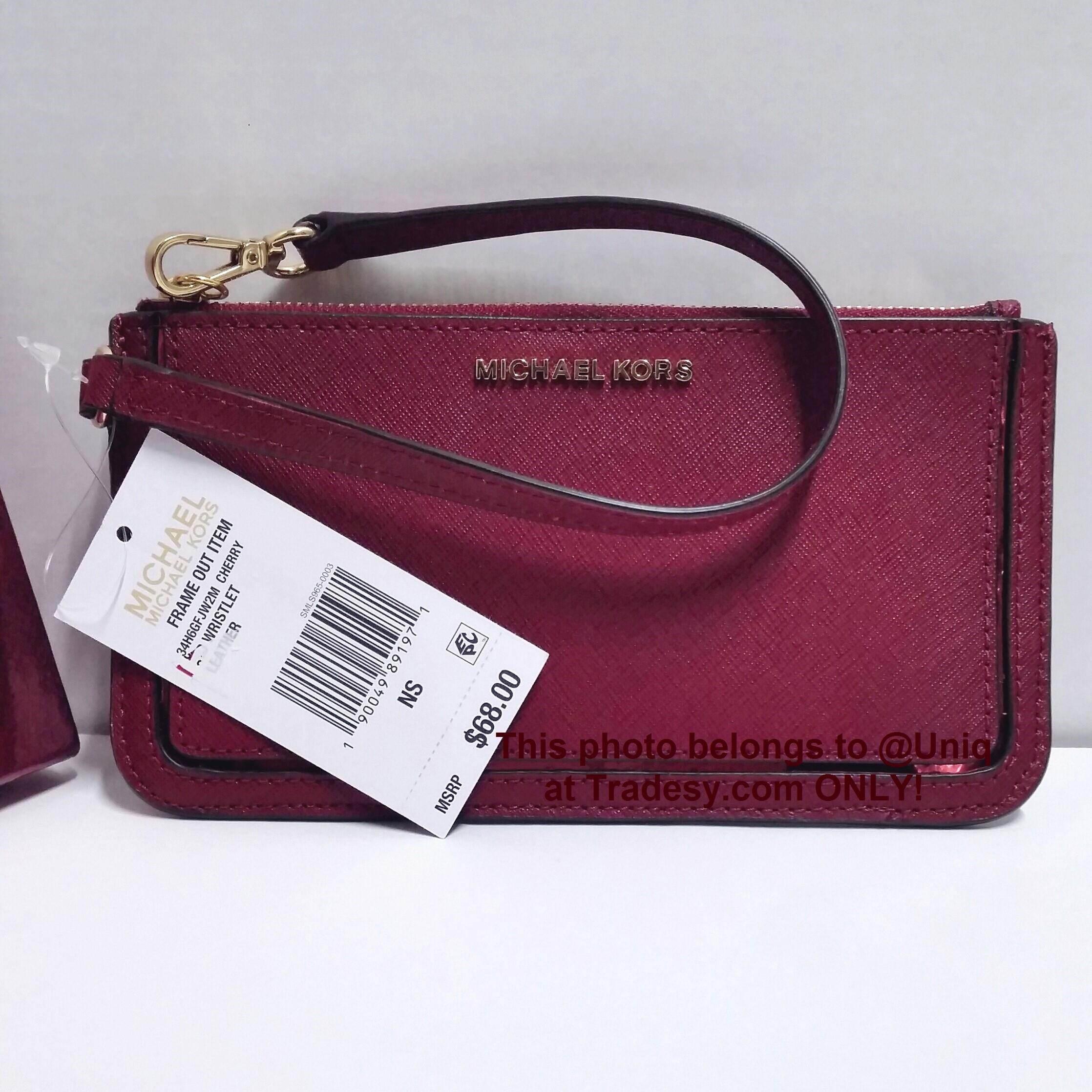 b9d8cdc615e1 ... where to buy michael kors gift boxed clutch purse mini handbag cherry  wristlet be00a 9dacb