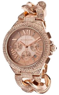 Michael Kors MK3196 MICHAEL KORS WOMEN'S CAMILLE SWAROVSKI CRYSTAL ROSE GOLD TONE WATCH
