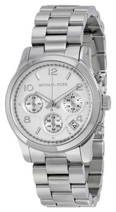 Michael Kors MK5076 MICHAEL KORS Silver Midsized Chrono Ladies Watch