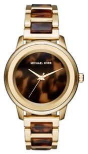 Michael Kors MK6353 Kinley Tortoise Acetate Gold-Tone Ladies Watch