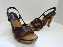 Michael Kors Leather Brown Sandals