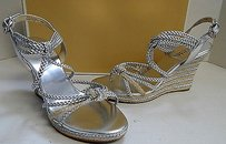 Michael Kors Strappy Silver Sandals