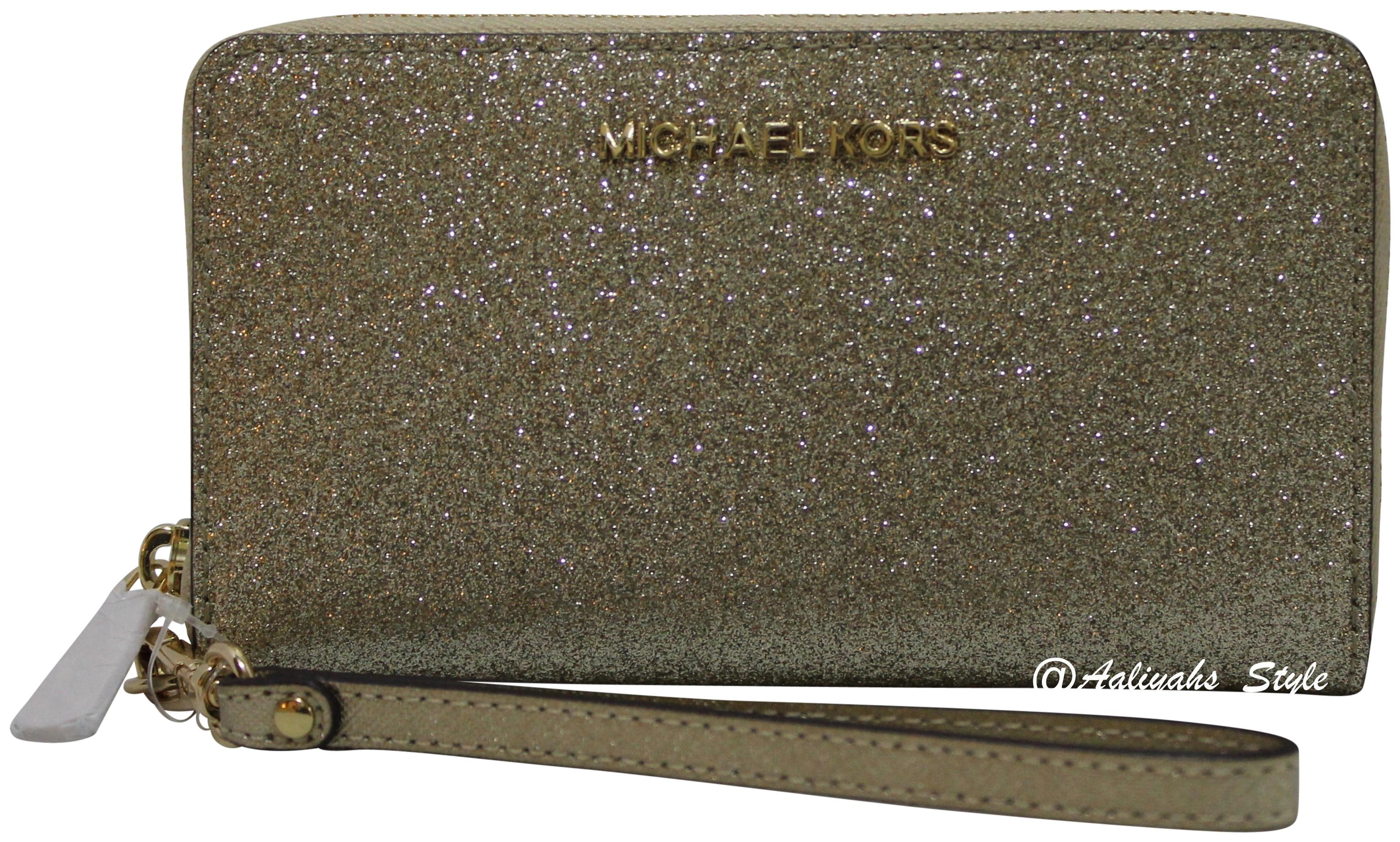 5cc25d51fef4 ... discount code for michael kors wallet 191935024701 wristlet in pale  gold 7fcc5 ba3f0 ...