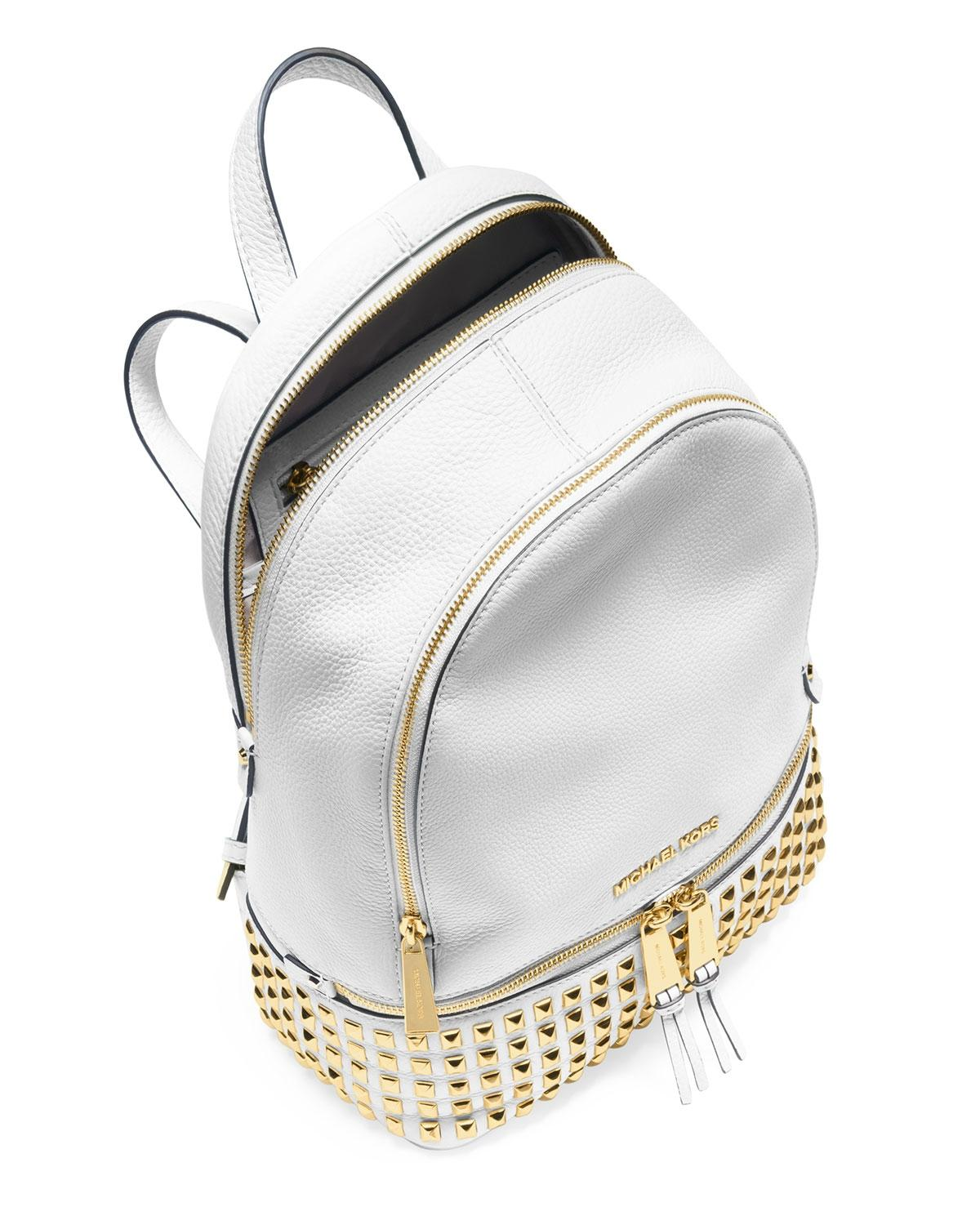 f0dffad46809 ... australia michael kors leather studded gold tone hardware backpack. 123  ddee6 61235