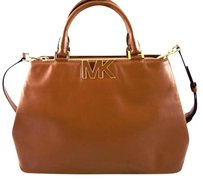 Michael Kors Leather Florence Satchel in Brown