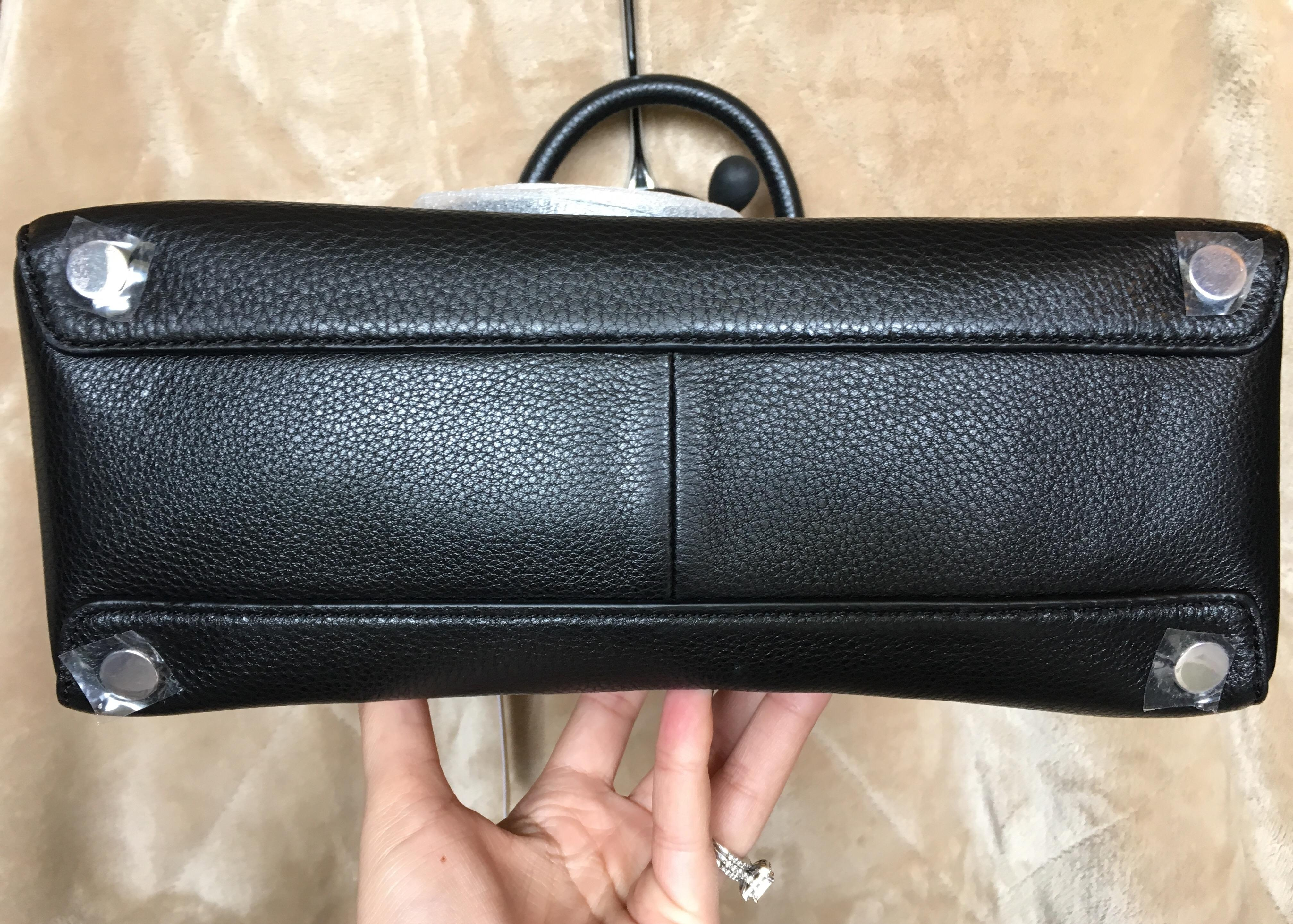 f99813ddfb7a94 ... best price michael kors save camille medium black silver leather  satchel tradesy 7507f 86af5