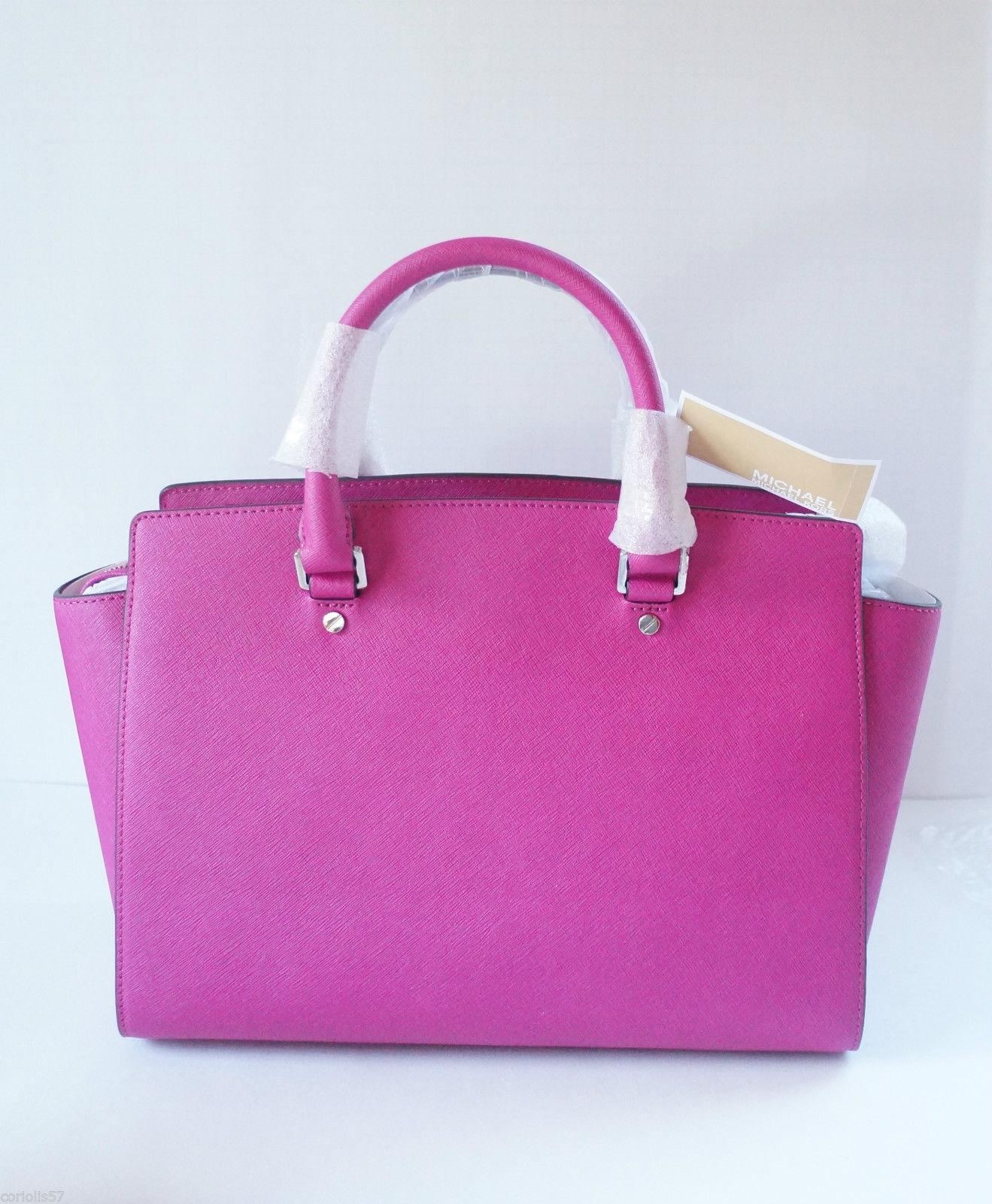 9885794327f1 ireland michael kors selma large top fuchsia saffiano leather satchel 4eaeb  9f223