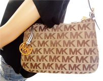 Michael Kors Jet Set Tz Signature Jacquard Shoulder Bag