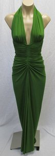 Michael Kors Italy Grass Ruched Halter Dress