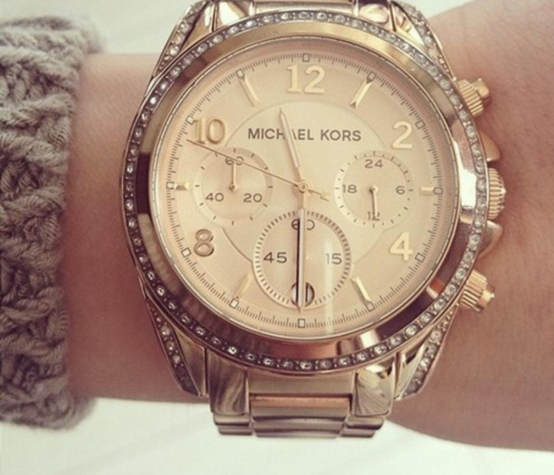 michael kors gold womens mk6096 chronograph watch tradesy