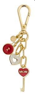 Michael Kors w/BONUS-SET-Heart Studs & ''I LOVE MOM' Key Ring/Fob