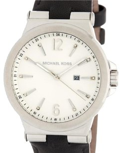 Michael Kors Women's Crystal Accented Leather Strap Watch