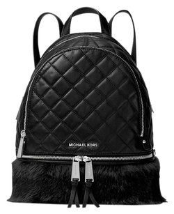 MICHAEL Michael Kors Rhea Zip Quilted Black Messenger Bag
