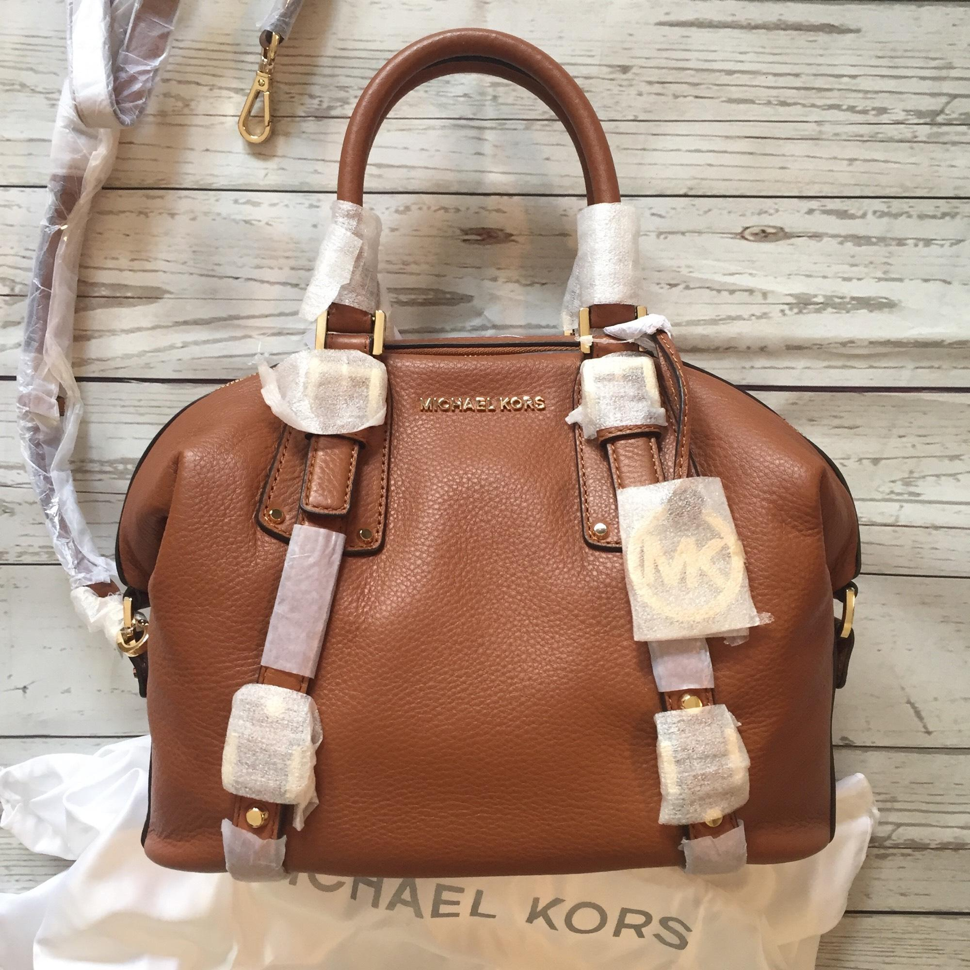 a8e936a8288d ... where can i buy michael michael kors medium bedford belted satchel in  luggage. 1234567891011 25139