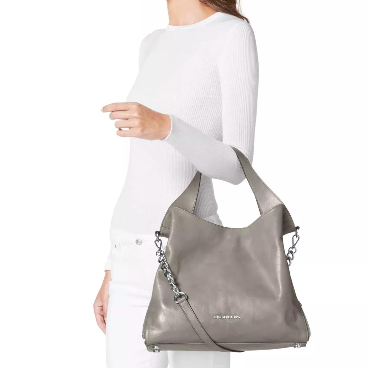 753261c547aaa9 ... norway michael michael kors devon large pearl grey leather tote tradesy  6434d 246d6