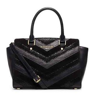 MICHAEL Michael Kors Selma Satchel in Black