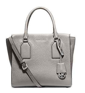 MICHAEL Michael Kors Selby Leather Satchel in Gray