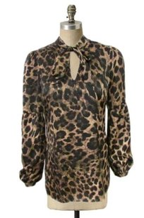MICHAEL Michael Kors Leopard Top Brown