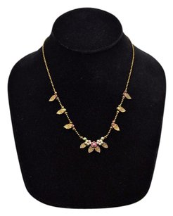 Michal Negrin A2 Michal Negrin Bronze Tone Crystal Flowers Necklace