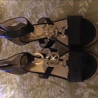 Micheal kors sandals Black and gold Sandals