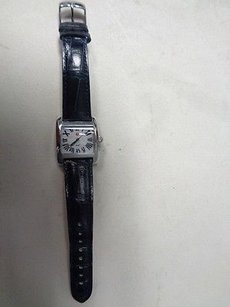 Michele Michele Blue Band Stainless Steel Alligator Wristwatch B2869
