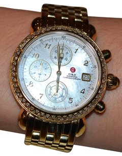 Michele Michele CSX Diamond & 18K Goldplated Stainless Steel Chronograph