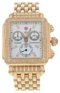 Michele Michele Deco Mww06p000109 18k Rose Gold Plated Steel Quartz Womens Watch