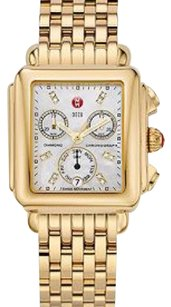 Michele Michele deco signature gold tone watch