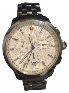 Michele MICHELE Uptown Diamond Dial Chronograph Watch Case & Bracele, 39mm